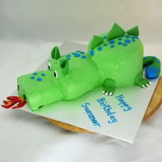 Dragon 3D Buttercream Cake (D, V)