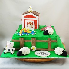 Farmyard Buttercream Cake (D,V)