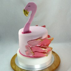Flamingo Cake 2 Tier