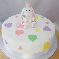 Baby Bunny with Love Heart Cake (D,V)