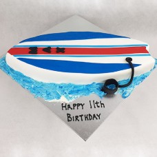 Beach Surfboard Cake (D)