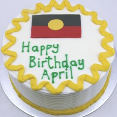 Countries - Aboriginal Flag Cake (D, V)