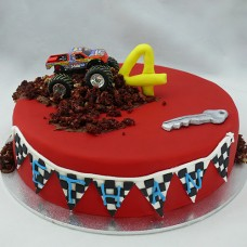 Car - Monster Truck with Bunting Cake (D,V)
