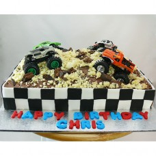 Car - Monster Truck Collision Cake (D, V)