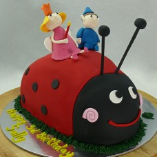 Ben and Holly Lady Bug Cake (D)