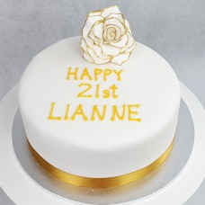 Flower - Gold Tipped Rose Cake (D,V)