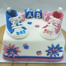 Baby Shower Cake - Sneakers Cake (D, V)