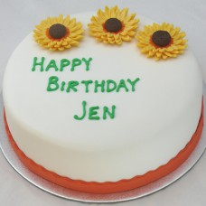 Flower - Sunflower Cake (D, V)