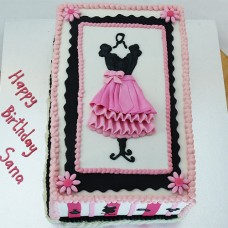 Girlie Fashion Party Cake (D,V)