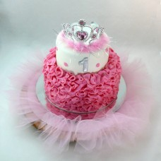 Dancing - Tulle and Tiara Cake (D,V)