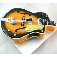 Music - Guitar - 3D Gretsch Cake (D)