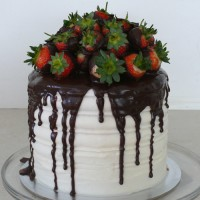 Strawberry Divine 4 Storey Cake  (D)