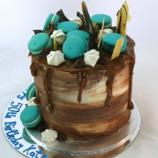 Drip Cake - Macarons with Chocolate - NOT Nut Free