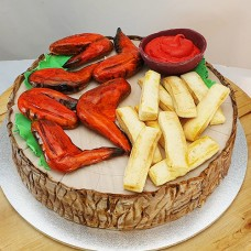 Food - Chicken Wings and Chips Cake (D)