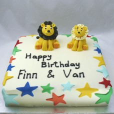 Buttercream with 2 Animals (D,V)