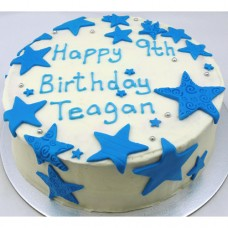 Buttercream Icing with Textured Fondant Stars (D, V)