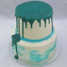 2 Tier Drip Cake and Buttercream Marble Effect Cake (D,V)