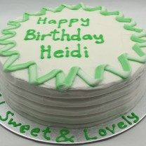 Buttercream Ridges & 2 Tone Border (D, V)