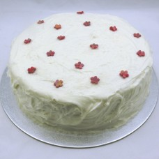 Buttercream Wave Cake with Coconut and Little Flowers (D, V)