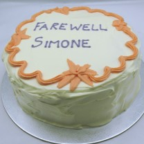 Farewell Cake Buttercream Border (D,V)