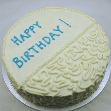 Buttercream Icing with Cornelli Lace Half Cake (D, V)