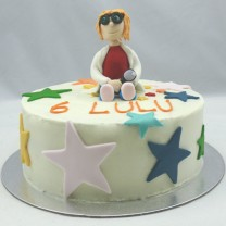 Buttercream and Little Scientist Figurine Cake (D, V)