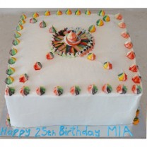 Rainbow Swirls with Sombrero Cake (D, V)