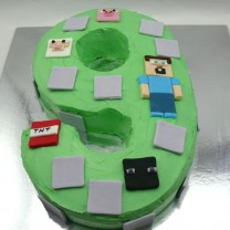 Minecraft Number Cake (D)