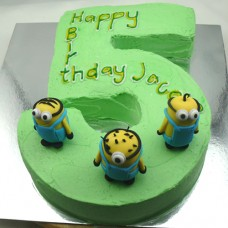 Minion Number Cake (D)