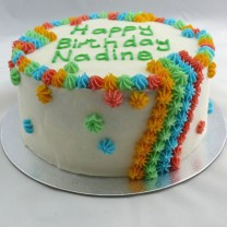 Buttercream Icing with Rainbow Rosette (D, V)