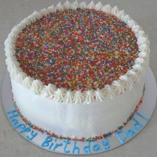 Buttercream Icing with Sprinkles Cake (D)