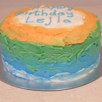Buttercream Icing with Wavy Ombre Sides (D, V)