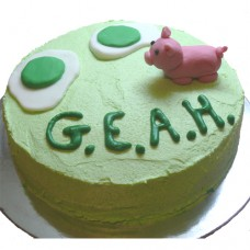 Green Eggs and Ham Cake (D,V)
