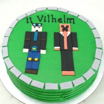 Minecraft Cake 2 Characters (D,V)