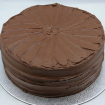 Chocolate Buttercream Textured Cake (D, V)