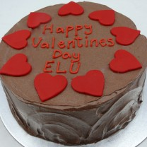 Chocolate Buttercream Icing with Love Hearts (D,V)