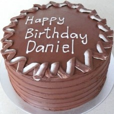 Chocolate Buttercream Ridges & 2 Tone Border (D, V)