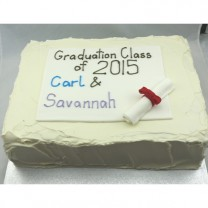 Corportate School Graduation Cake - Buttercream and Fondant (D)