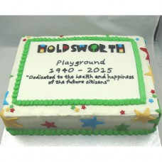 Corporate Cake - Buttercream and Fondant (D)