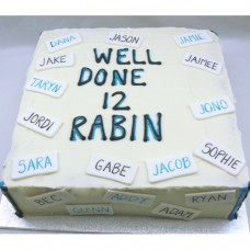 Corporate Name Cake - Buttercream and Fondant (D)