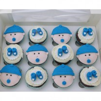 CupCakes Boy Baby Shower ($45 per dozen) (D, V)