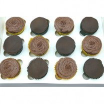 CupCakes with half Fondant and Half Buttercream ($37.50 per dozen) (D,V)