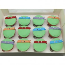 CupCakes with Fondant Teenage Mutant Ninja Turtle ($45 per dozen) (D,V)
