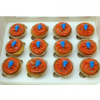CupCakes with Buttercream, Sprinkles and Initial ($42 per dozen) (D, V)