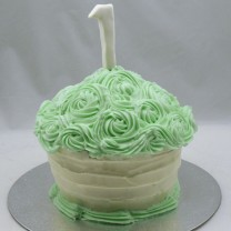 Giant Cupcake Large Swirl Roses  (D)