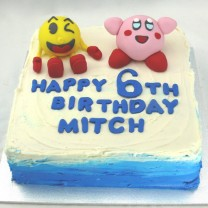 Amiibo Characters Kirby and Pac-Man Cake (D, V)