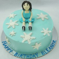 Ice Skating Figurine Cake (D, V)