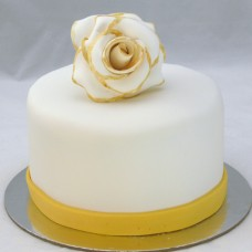 Gold Tipped Rose Cake (D,V)