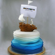 Pirate on Waves Cake (D,V)