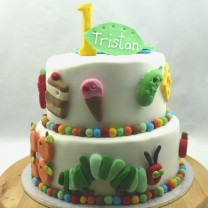 The Very Hungry Caterpillar Cake (D)